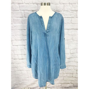🦋Anthropologie Cloth & Stone• Chambray Blouse🦋
